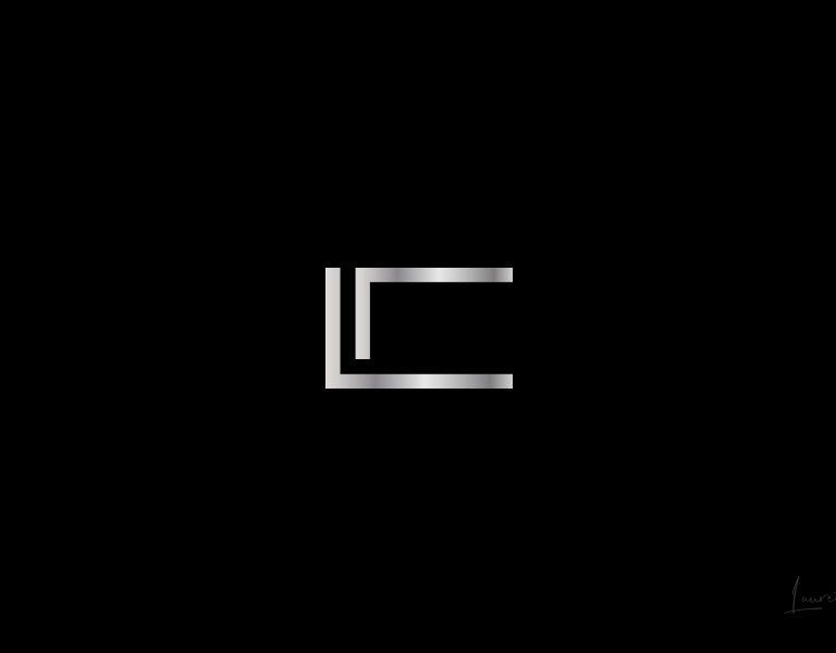 logo luxe gris metalisé