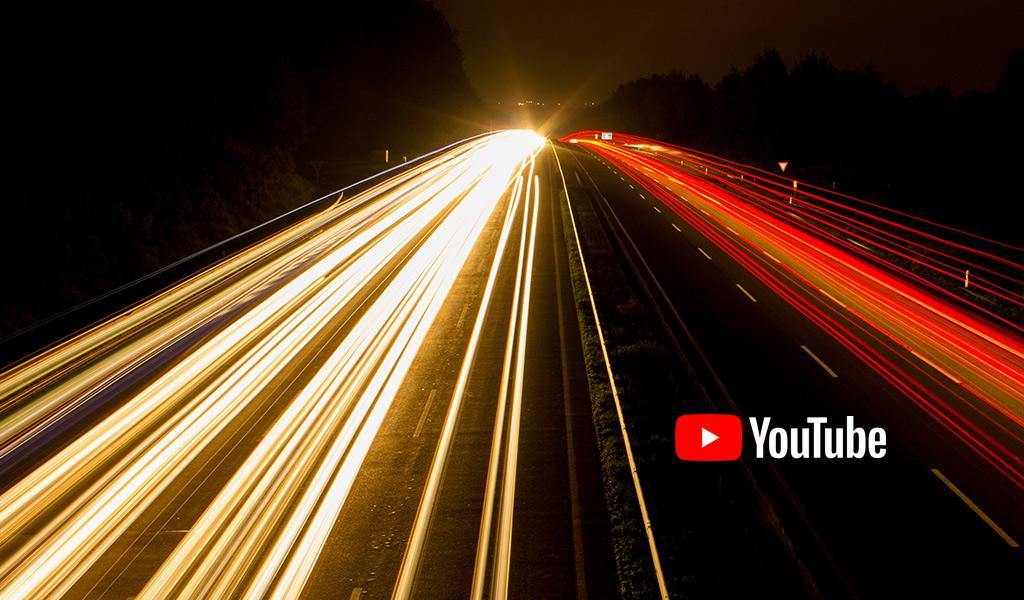 route lumière orange rouge youtube logo